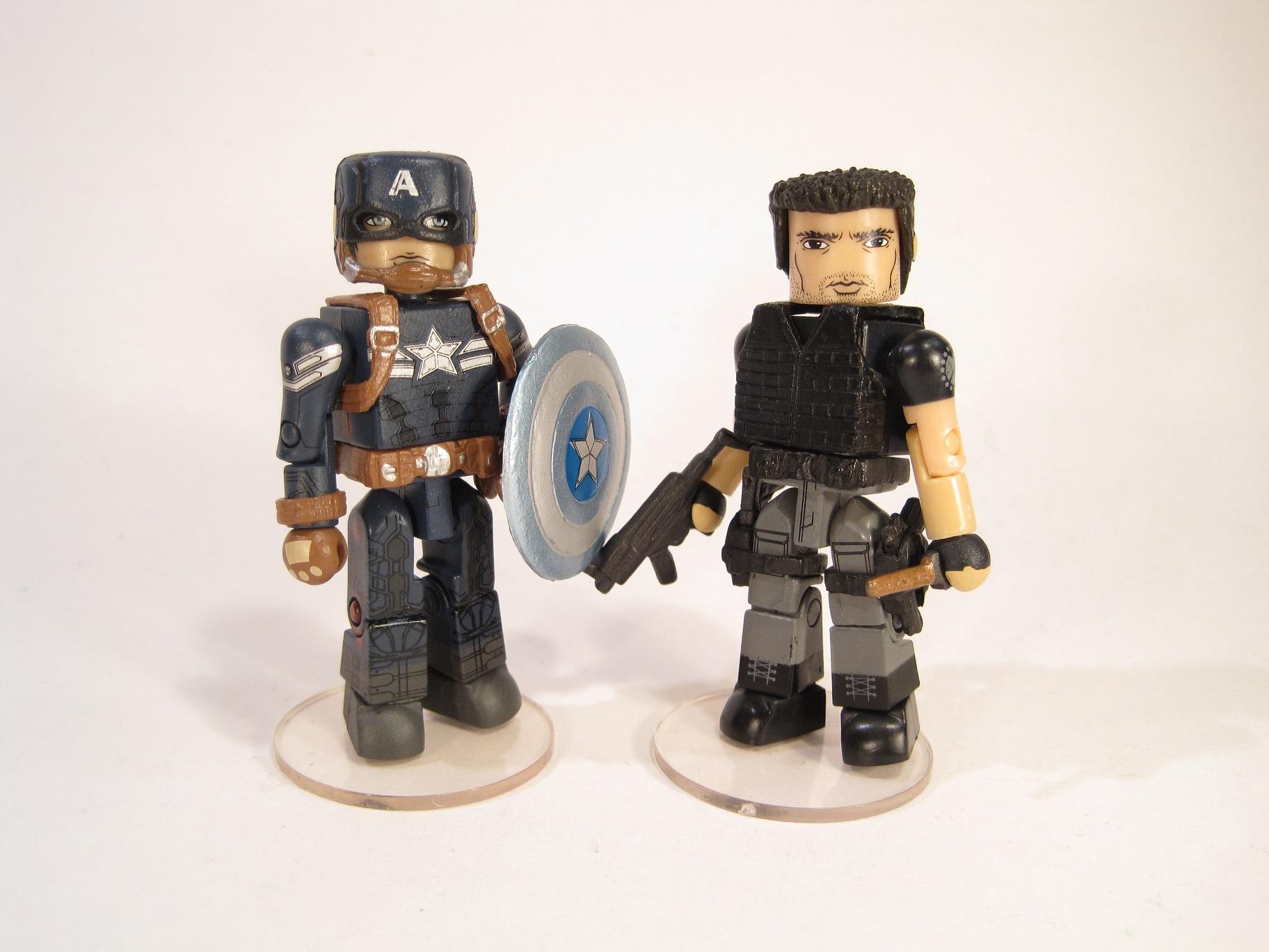 Marvel Minimates Series 55 Captain America 2 Movie Stealth Cap /& Brock Rumlow