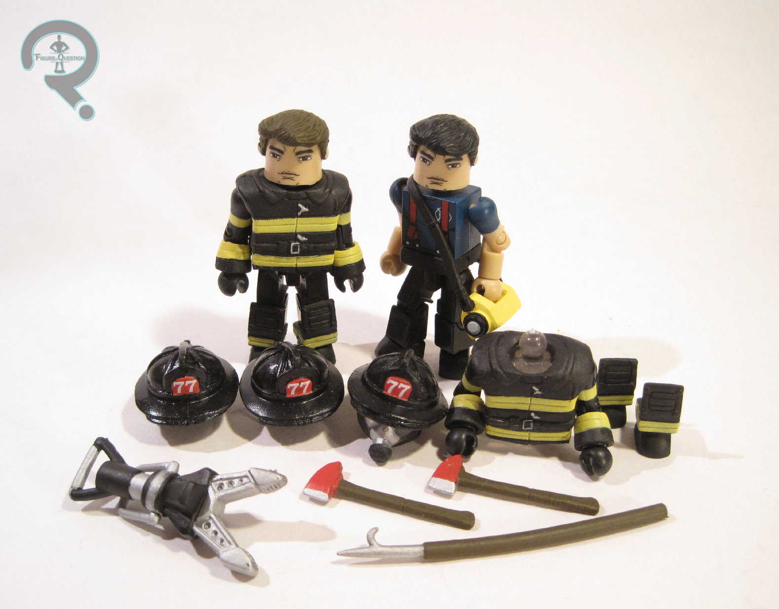 MAX Minimates Elite Heroes Series 1 Fire Fighters Fire Chief 2-Pack