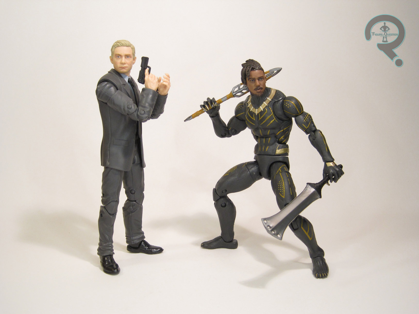 Marvel Legends Series Black Panther Everett Ross /& Erik Killmonger-Free Priori